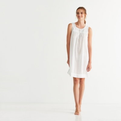 Embroidered Yoke Nightgown