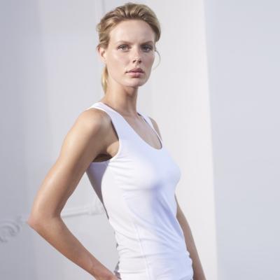 Essential Double Layer Vest - White