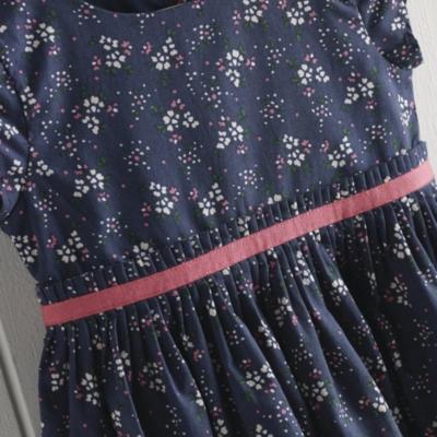 Ellie Floral Pleat Waist Dress