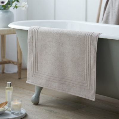 Egyptian Bath Mat - Pearl Gray