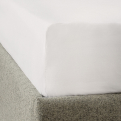 200-Thread-Count Cotton Fitted Sheet - Set Of 2 - White