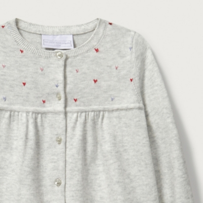Embroidered Heart Cardigan
