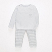 Elephant Stripe Jersey Pajamas - Gray Stripe