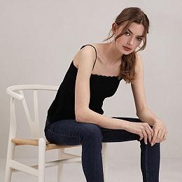Lace Essential Trim Cami - Black