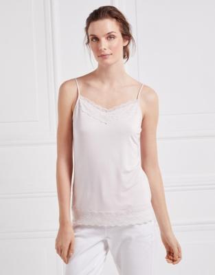 Lace Essential  Trim Cami - Pale Pink