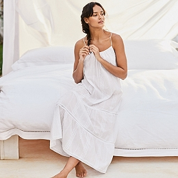 Cotton Embroidered Maxi Nightgown