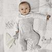 Elephant Motif Baby Sleepsuit