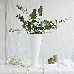 Matte Enamel Florist Vase