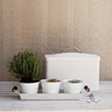 Enamel Herb Pots With Tray