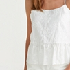 Embroidered Peplum Camisole