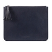 Essentials Leather Pouch - Navy