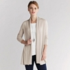 Exposed Seam Swing Cardigan - Natural - Natural