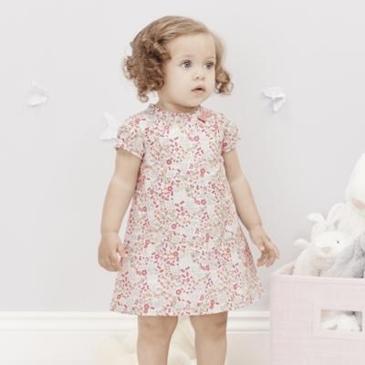 Esme Floral Bow Neck Dress