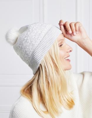 Wool-Cashmere Fair Isle Beanie Hat | Accessories | The White ...