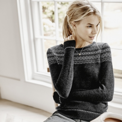 Fairisle Lurex Sweater