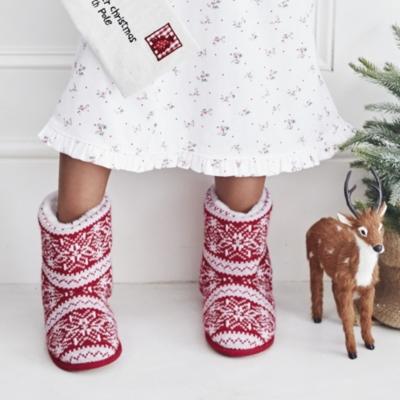 Fair Isle Slipper Boots | Children's Stocking Fillers | The White ...