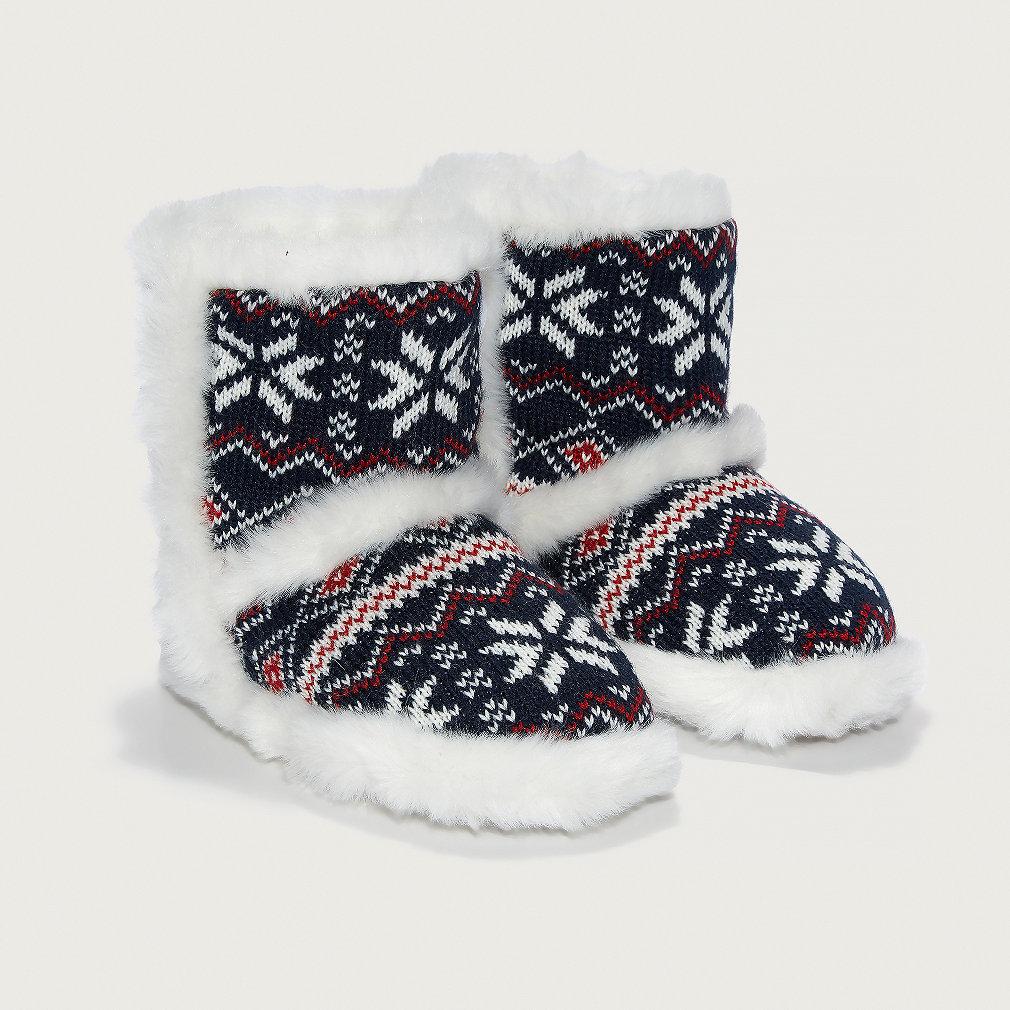 Fair Isle Slipper Boots | The Little White Company | The White ...