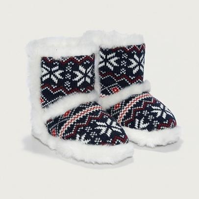 Fair Isle Slipper Boots | Boys' Nightwear | The White Company UK