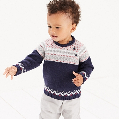 Fair Isle Sweater | View All Baby | The White Company US