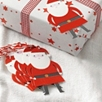Felt Father Christmas Gift Tag Set of 6