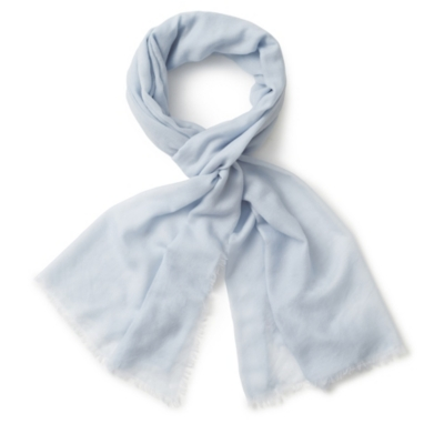 Feather Edge Lightweight Scarf - Misty Blue