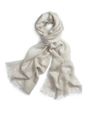 Feather Edge Lightweight Scarf - Silver