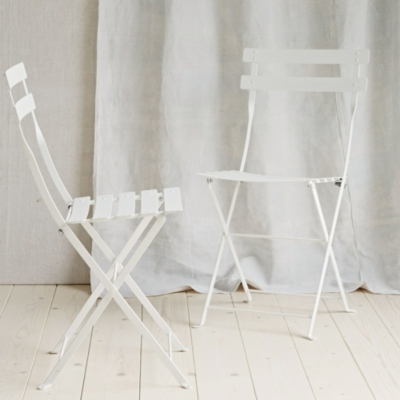 Folding Bistro Chairs - Set Of 2