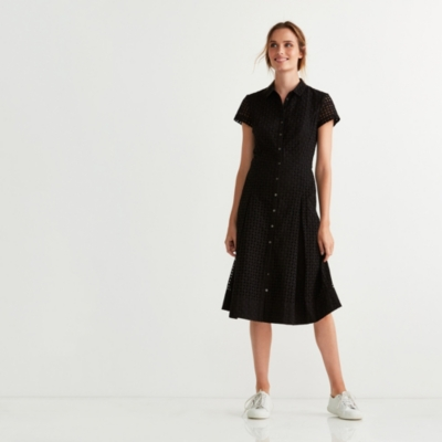 Fit & Flare Broderie Anglaise Dress