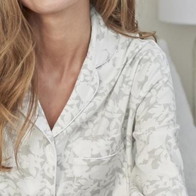 Floral Flannel Pajama Set