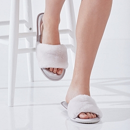 Faux-Fur & Satin Sliders