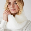 Faux Fur Twist Snood - Ivory
