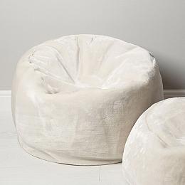 Luxury Faux Fur Large Beanbag