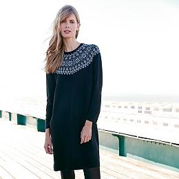Wool Fairisle Knitted Dress