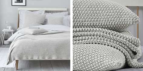 Finley Throw & Cushion Covers - Soft Gray