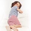 Fine Stripe Short Pajamas