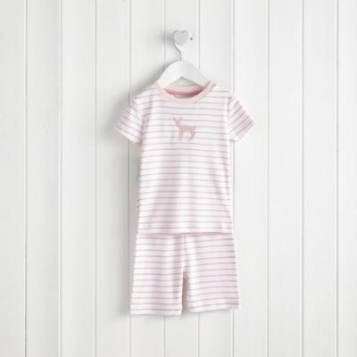 Fawn Motif Pajamas Snug Fit