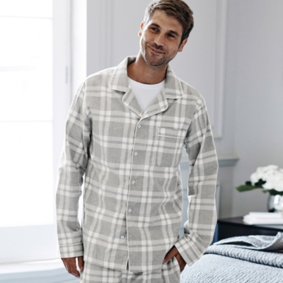 Mens' Flannel Pyjama Shirt