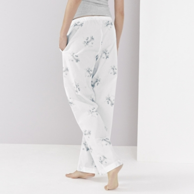 Floral Poplin Pajama Bottoms
