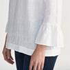 Linen Fluted Sleeve Top