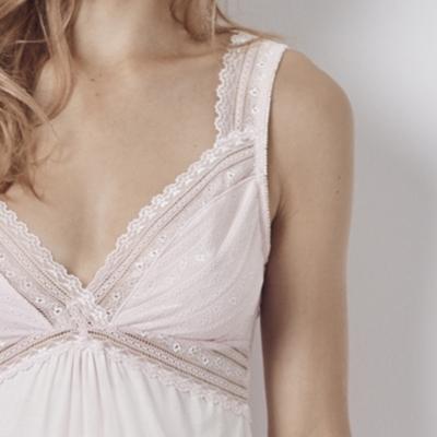 Tiny Flower Lace Bodice PJ Set - Whisper Pink