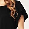 Flutter Sleeve Top - Black