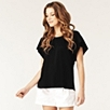 Flutter Sleeve Top - Black