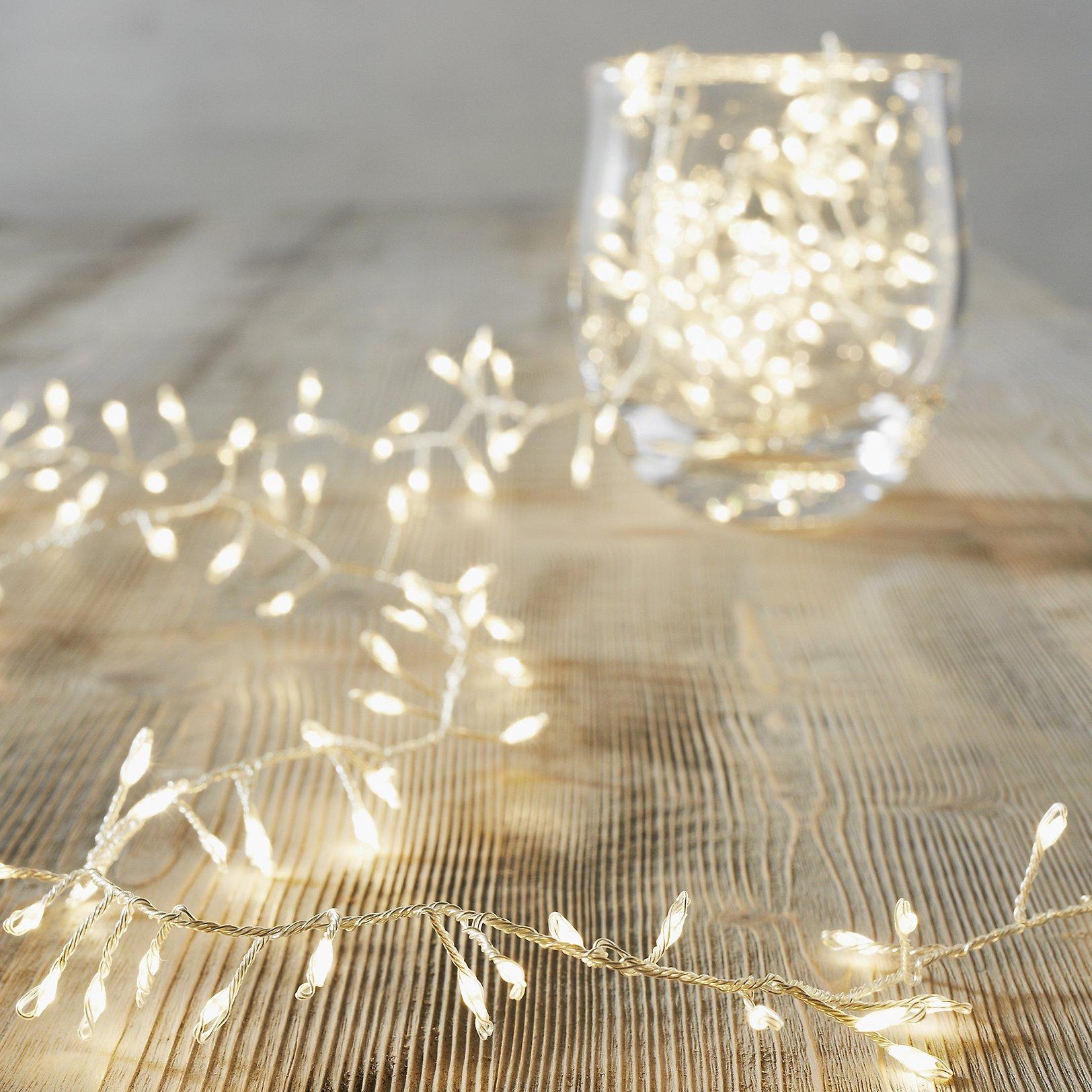 compact christmas tree lights 360 bulbs - Silver Christmas Lights