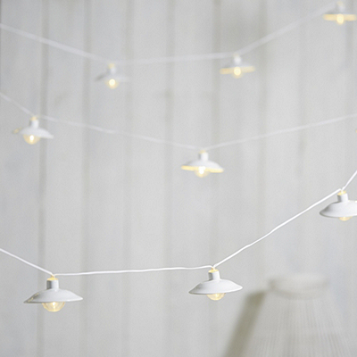 Enamel Alfresco Lights - The White Company
