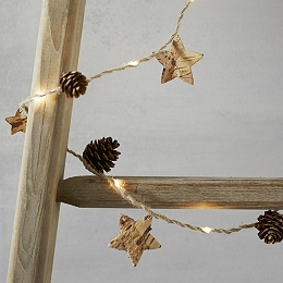 Lit Pinecone Christmas Fairy Lights