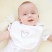 Floral Heart Bib - White