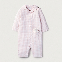 Flannel Check Sleepsuit & Toy