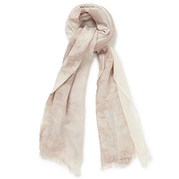 Wool Floral Ombre Scarf