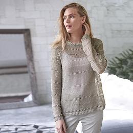 Foil Print Textured Sweater