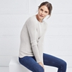Fine Ribbed Layering Sweater - Cloud Marl